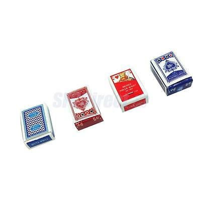 4Sets Games Poker Paper Playing Cards 1/12 Miniature Dollhouse Accessory Toy