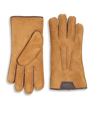 NWT UGG for Men Chestnut Shearling Sheepskin Gloves 15036 sz Large $145