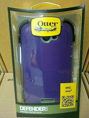 New! Authentic Otterbox Defender Series Purple Holster case - HTC one X