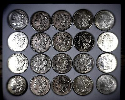 Lot of (5) 1921 Silver Morgan Dollar XF+ Free Shipping