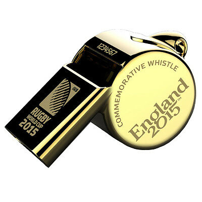 Rugby World Cup 2015 Gold Plated Commemorative Referee's Thunderer Whistle Rare
