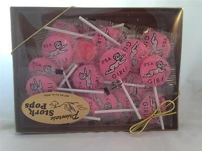 Baby Girl Birth Announcement Candy : Primrose It's A Girl Suckers Stork Pops