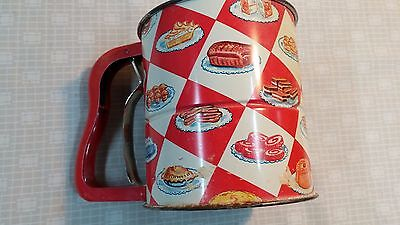 Vintage ANDROCK HAND-I-SIFT 3 Screen Flower Sifter 1951 Cakes Donuts Bread Pie