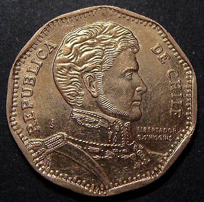 Chile, 50 Pesos 2013, Km# 219, High Quality Copper-Nickel Coin, Lot # 22