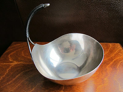 Danish Modern Hugo Grun Silverplate Handled Serving Bowl Denmark