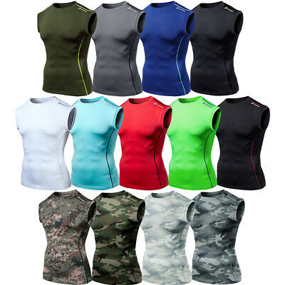 Tesla R15 Cool Dry UPF-50 Antibacterial Sleeveless Compression Muscle Shirt