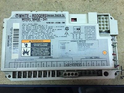 York OEM White Rodgers Control Board 50A50-241 031-01266-000