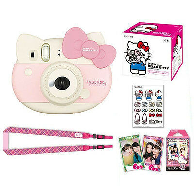 Fujifilm Fuji Instax Mini Hello Kitty Instant Film Camera Set Limited Edition AU