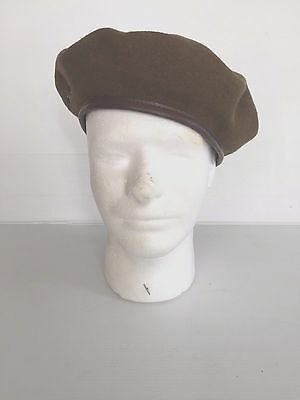 Wwii Canadian Army Basque Khaki Wool Beret (7 3/8) Reproduction