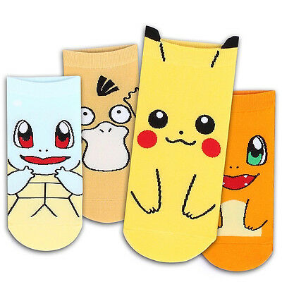 Hot Pokemon Pikachu Anime kawaii Character Socks Pocket Monsters Women Kid Socks