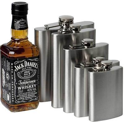Stainless Steel FLASK Screw Cap Hip Pocket Alcohol Liquor Whiskey Party