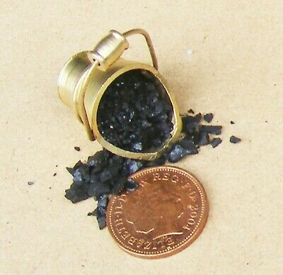 1:12 Metal Scuttle & Real Coal Dolls House Miniature Fireplace Bucket Accessory