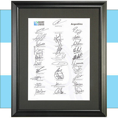 Rugby World Cup Commemorative Autographed Team Sheets 12 Countries 2015 RWC