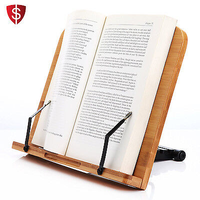 Cookbook Stand Holder Recipe Kitchen Rack Rest Wood Reading Support Cooking