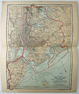 Original 1903 Dated Map of The Greater New York Area by Dodd Mead & Co