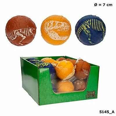 Depesche 5145_A Dino World Soft Ball in various colors Blue Brown Yellow