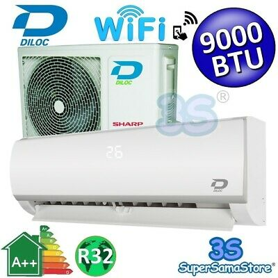3S SPLIT 9000 btu 2,5 KW KLIMAANLAGE DILOC KOMPRESSOR SHARP A++ A+ WIFI FUNKTION