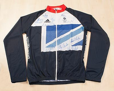 London 2012 Olympics Cycling Jersey Signed by All 11 Team GB Gold Medallists