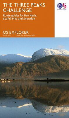 Three Peaks Challenge OS Map (Ben Nevis Cover)