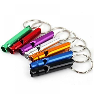 10pcs Hot Camping Gift Survival Hiking Aluminum Emergency Keychain Whistle