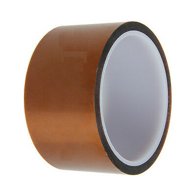 50mm 5cm x 30M Kapton Tape Sticky High Temperature Heat Resistant Polyimide CA