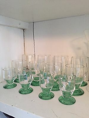 Set of Daum cordial glasses (12) Signed Nancy Daum