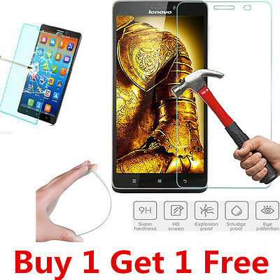 2Pcs 9H+ Tempered Glass Screen Protector Protection Guard Film For Lenovo Mobile