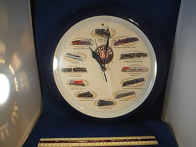 Lionel Train Wall Clock with 12 Different Train Sounds-Different Each Hour