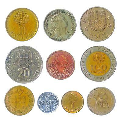 Lot of 20 Portugal Portuguese Republic Coins Escudos Centavos 1969-2001