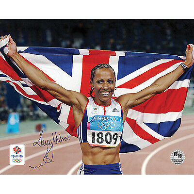 Kelly Holmes Signed Olympic Photographs Athens 2004 Autograph Memorabilia