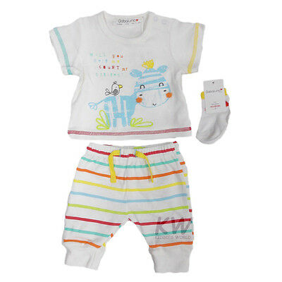 Unisex Baby Boys or Girls 3 Piece Top, Pants & Socks Outfit (Newborn - 6 Months)
