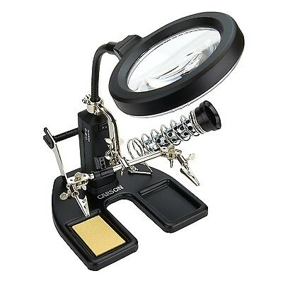 Carson SolderMag 1.75x LED Lighted Soldering Magnifier with 4.5x Spot Lens