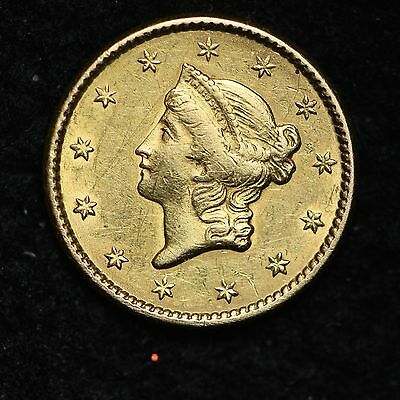 1850 Gold $1 Dollar Liberty Head CHOICE UNC FREE SHIPPING E322 CLM