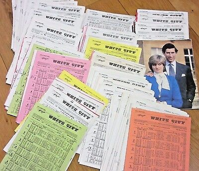 125 x Early 1980's White City Stadium Greyhound Racecards Giveaway Price To Sell