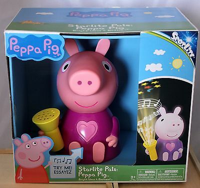 Peppa Pig Star Lite Pals Musical Night Light and Star Projector NEW