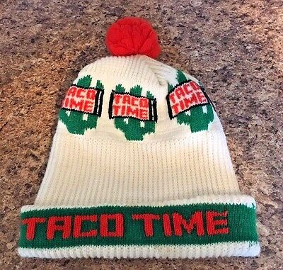 Vintage TACO TIME Mexican Food Advertising Stocking Cap - RARE ITEM