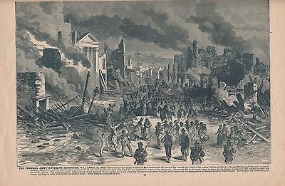 Original Antique Civil War CAPTURE of RICHMOND Virginia VA Panoramic Map Print