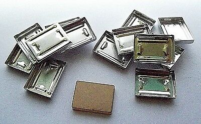 Lot of 12 x Rectangle Aluminium Plate Pans with Stamp Tile Press Your Powders