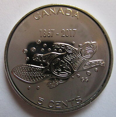 2017 Canada 5 Cents 1867-2017 150Th Anniversary Of Canada Proof-Like Coin