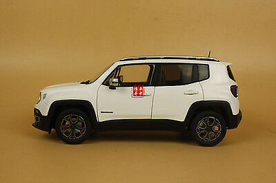 1/18 new Jeep Renegade white color diecast model car white color