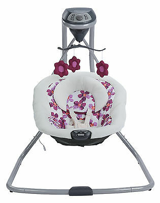 Graco Simple Sway Baby Swing, Rocker, Songs, Sounds, Vibration, Infant, Caris