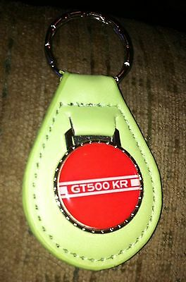 1968 2008 Shelby Gt500Kr King Of The Road Stripe Logo Keychain New Bright Green