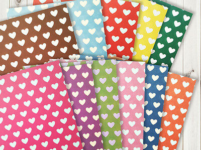 20 sheets 10 colors Heart Origami paper 15cm x 15cm OR025