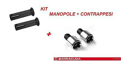 BARRACUDA KIT MANOPOLE RACING NERE + CONTRAPPESI ARGENTO per YAMAHA YZF R6 600