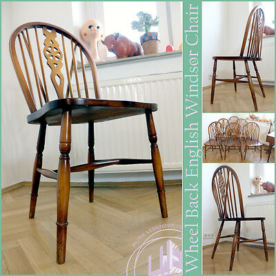 Wheel Back Vintage Windsor Chair Stuhl Dining Chair Chaise Mid Century ~ 1940`50