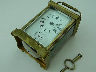 Antique/vintage  CARRIAGE clock with alarm  Working GOOD CONDITION
