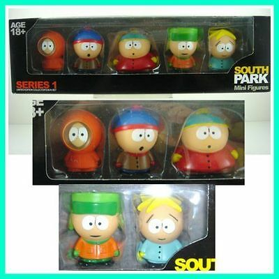"HOT 5 pcs Characters South Park Action 6cm or 2.4"" Figures Dolls in Box SET"