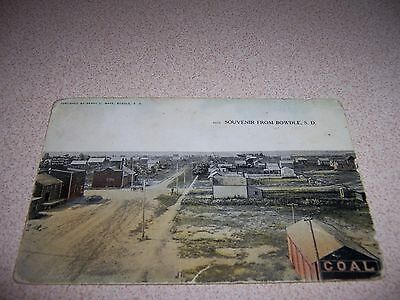 1908 Main Street Town View Bowdle South Dakota Sd. Antique Postcard