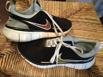 NIKE FREE 5.0 Womens Suede Running Shoes 308975 041