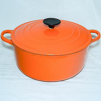 Le Creuset Cocotte Orange E 24.5Cm Ronde Faitout Cast Iron Dutch Oven